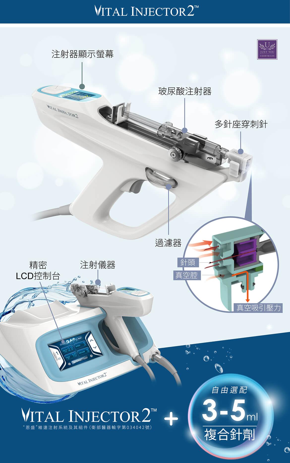 水光針/水光槍-儀器外觀與治療方式