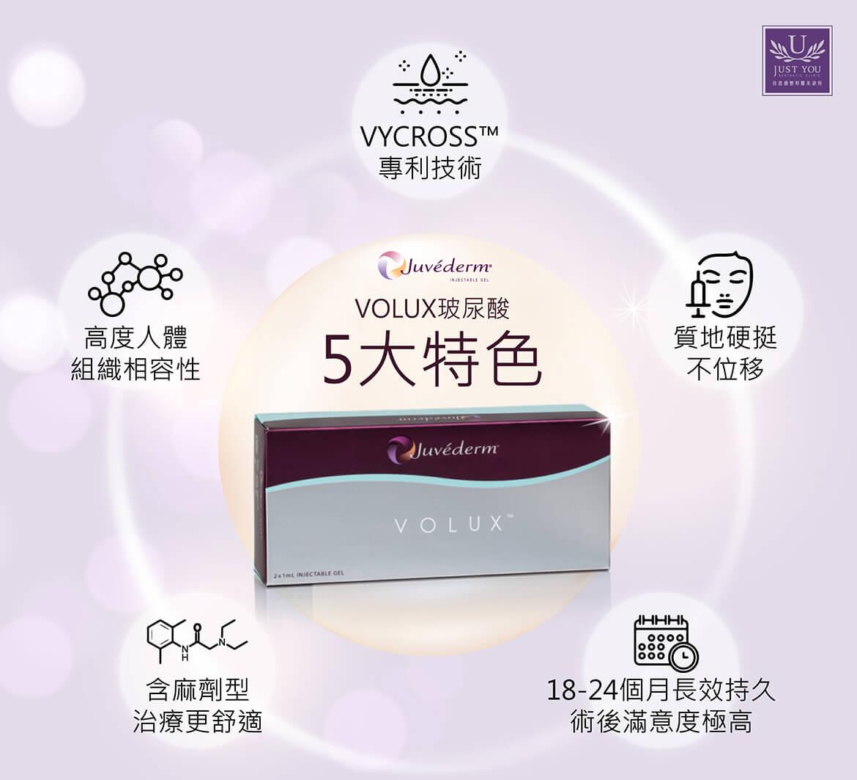 喬雅登《VOLUX玻尿酸》五大特色