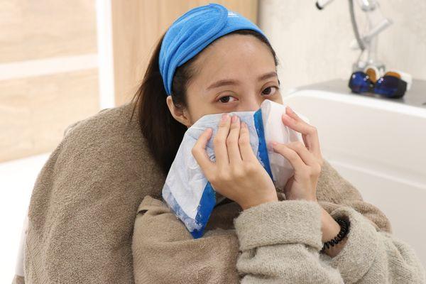 玻尿酸蘋果肌、玻尿酸下巴,術後冰敷減緩腫脹感
