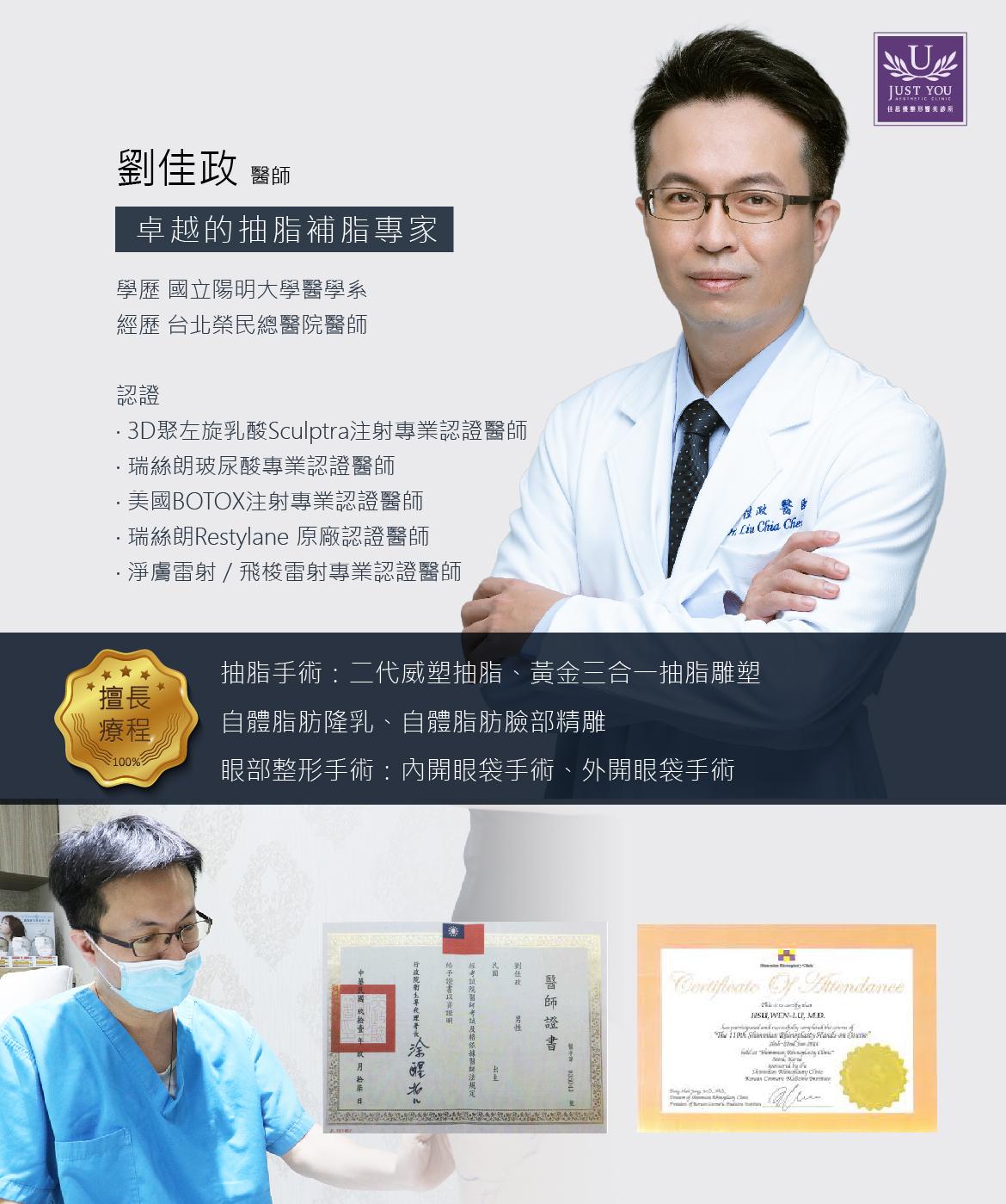 威塑抽脂手術-劉佳政 醫師